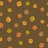 Дуб покидает безшовная картина крупный план предпосылки осени красит красный цвет листьев плюща померанцовый Стоковое фото RF