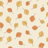 Дуб покидает безшовная картина крупный план предпосылки осени красит красный цвет листьев плюща померанцовый Стоковое Изображение RF