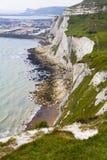 ДУВР, Великобритания - 12-ое апреля 2014 - получили, что план построил порт Дувра, самый занятый порт Англии третий стержень Стоковые Фотографии RF
