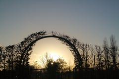 Дуга золотого света Стоковая Фотография