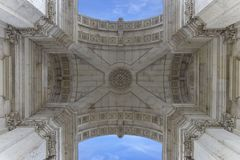 Дуга квадрата Лиссабона Стоковое Фото