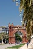 дуга barcelona de triomf Стоковое Фото