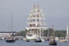 Дуга gloria Tallship от Колумбии Стоковые Фотографии RF