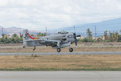Дуглас AD-4NA Skyraider на дисплее Стоковые Изображения