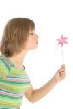 дует женщина погоды лопасти молодой Стоковое фото RF