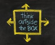 Думайте вне коробки Стоковая Фотография RF