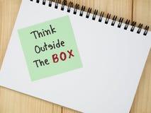Думайте вне коробки 11 Стоковое Фото