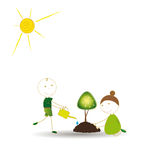 Думайте зеленый цвет Стоковые Фото