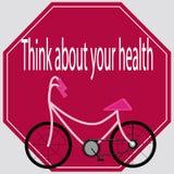 Думайте о вашем здоровье бесплатная иллюстрация