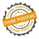 Думайте положительный штемпель Знак уплотнение Стоковые Фотографии RF