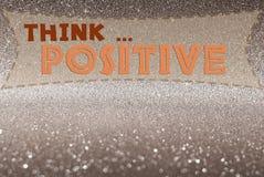 Думайте положительное слово Стоковые Изображения RF