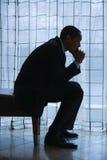 Думать бизнесмена Стоковая Фотография