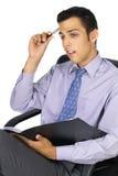 думать бизнесмена Стоковое Изображение RF