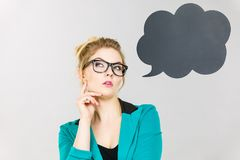 Думать бизнес-леди интенсивный Стоковое Изображение