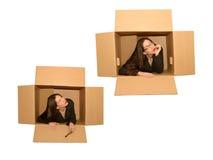 думать коробки внешний Стоковое фото RF