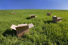 думать коробки внешний Стоковые Фото