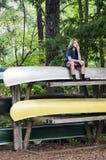 Думать на каное Стоковые Изображения