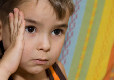 думать ребенка Стоковое Изображение RF