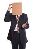 думать человека коробки стоковое фото