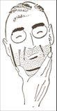 Думать человека Стоковое фото RF