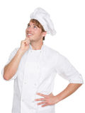 Думая кашевар шеф-повара, хлебопека или мужчины Стоковое фото RF