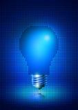 Думая электрическая лампочка идеи Иллюстрация вектора