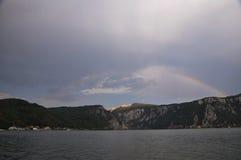 Дунай с радугой Стоковое Изображение RF