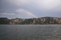 Дунай с радугой Стоковые Фотографии RF
