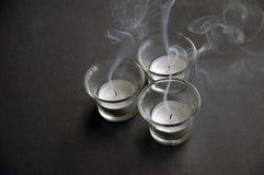 дуновение освещает вне чай стоковые изображения