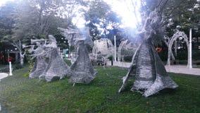 Дуновение статуи Анджела труба Стоковое фото RF