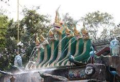 Дуновение Naga на виске Таиланде Стоковое Фото