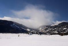 Дуновения снега скалистых гор Стоковая Фотография