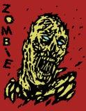 Дунутый прочь извергом зомби ветра также вектор иллюстрации притяжки corel Стоковые Фото