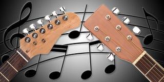 Дуо гитары головное Стоковое фото RF