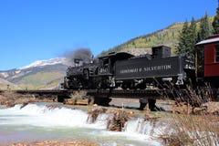 Дуранго и железная дорога узкой колеи Silverton стоковое фото rf