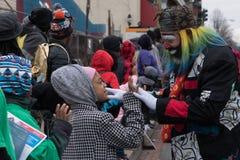 Дурачиться вокруг на младшем Мартин Лютер Кинга Парад дня Стоковая Фотография