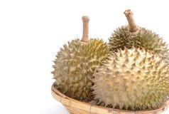 Дуриан в корзине Король плодоовощей Стоковая Фотография RF