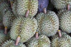 Дуриан на плодоовощ рынка тайского короля плодоовощ Стоковое Изображение