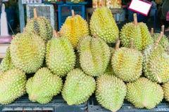 Дуриан, плодоовощ в рынке Таиланда Стоковые Изображения RF