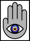 Дурной глаз в руке Стоковое фото RF