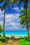 Дуть остров, республика Кирибати стоковая фотография