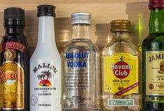 Духи коктеиля в бутылках Стоковые Изображения RF