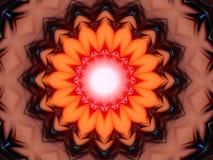 Духовное колесо мандала с светом внутрь Стоковая Фотография