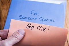 Духовное сообщение в почте стоковые изображения