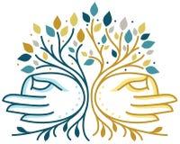 Духовность вручает дерево Стоковое Изображение