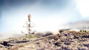 Духовные stength и баланс Мультимедиа стоковые фотографии rf