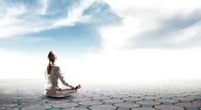 Духовные stength и баланс Мультимедиа стоковое изображение