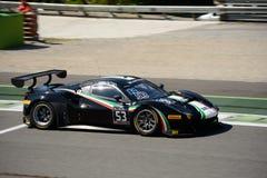 Дух гонки Феррари 488 GT3 на Монце Стоковое Фото