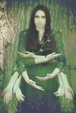 Дух леса, сплавливание человека и природа стоковые изображения