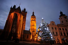 Дух st церков и белый городок стоковая фотография rf